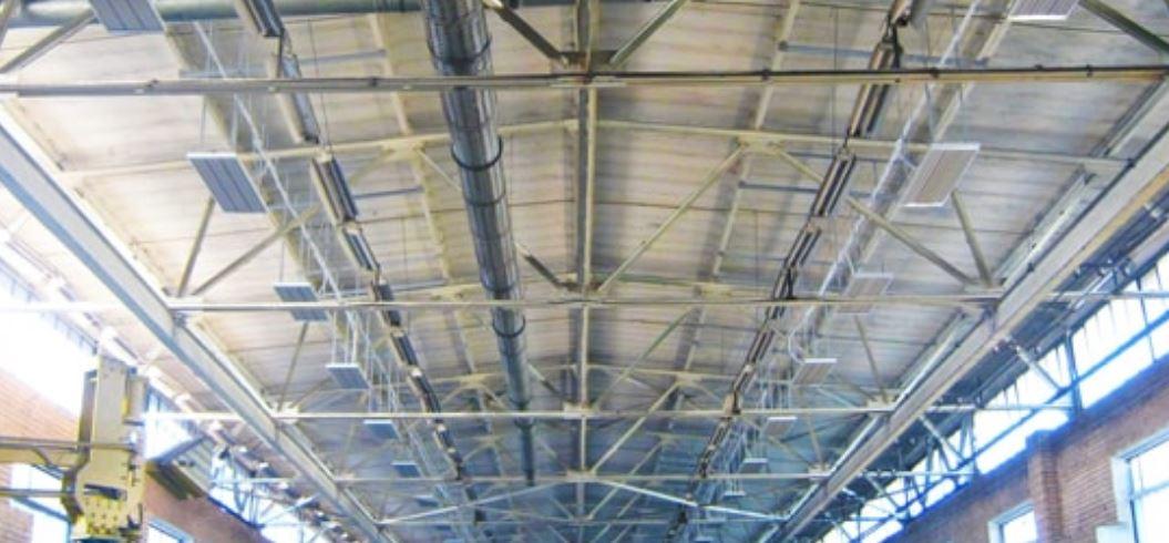 sunlight4you Infrarotstrahler Hallendecke Decke Industrie